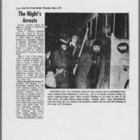 "1971-05-06 Iowa City Press-Citizen: """"The Night's Arrests"""""