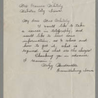 1917-09-05 Walzy Vandevelde to Mrs. Frances Whitley