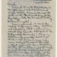 1943-03-17 Laura Davis to Lloyd Davis Page 1