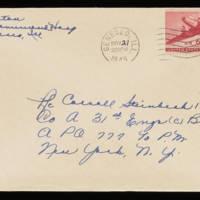 1945-11-20 Evelyn Burton to Carroll Steinbeck - Envelope