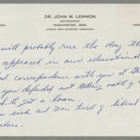 Memo from John W. Lemmon Page 2