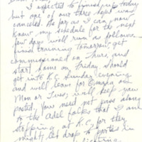 Nile Kinnick correspondence, September-November 1942