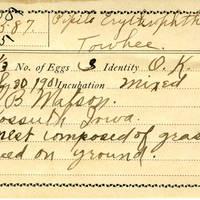 Samuel B. Matson, egg card # 093u