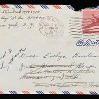 1945-11-20 Carroll Steinbeck to Evelyn Burton - Envelope