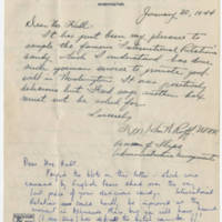 1944-01-30 Notes to Mr. W. Earl and Mrs. Ruth Hall Page 1