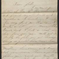 1862-12-27 Charles A. Gates to Mr. Arad Gates Page 1