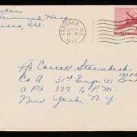 1945-10-24 Evelyn Burton to Carroll Steinbeck - Envelope