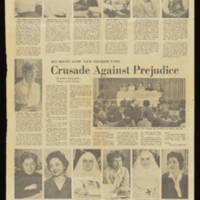 "1964-02-16 Des Moines Sunday Register Article: """"Crusade Against Prejudice"""" Page 1"