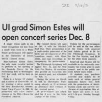 "1971-09-16 """"UI grad Simon Estes will open concert series Dec. 8"""""