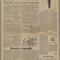 1972-02-29 Daily Iowan Article: 'The new wave of race scientists' Page 1