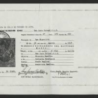 1976-02-02 Duplicate of Duplicate baptismal record