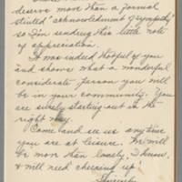 1942-03-27 Mrs. Miller to Laura Frances Davis