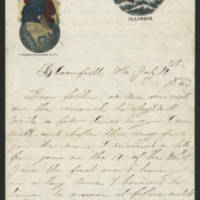1863-07-21 Charles A. Gates to Mr. Arad Gates Page 1