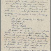 1945-03-18 Lt. Everett K. Burham to Dave Elder Page 1