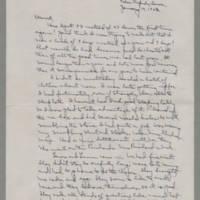 1943-01-10 Laura Davis to Lloyd Davis Page 1