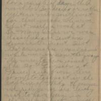 1918-12-22 Thomas Messenger to Mrs. Ress Wade Messenger Page 2