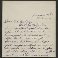 1918-08-02 Correspondence to Mrs. F.E. Whitley