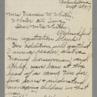 1917-09-15 Mildred Ann Rayburn to Mrs. Francis N. Whitley Page 1