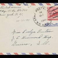 1945-10-23 Carroll Steinbeck to Evelyn Burton - Envelope
