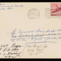 1945-10-01 Evelyn Burton to Carroll Steinbeck - Envelope