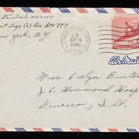 1945-10-18 Carroll Steinbeck to Evelyn Burton - Envelope
