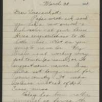 1918-03-20 Thomas Messenger to Vera Wade Page 1