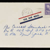 1945-08-30 Evelyn Burton to Carroll Steinbeck - Envelope