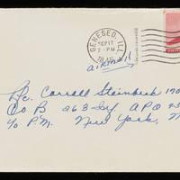 1945-09-16 Evelyn Burton to Carroll Steinbeck - Envelope