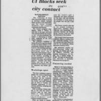 "1972-06-29 Daily Iowan Article: ""UI Blacks seek city contract"""