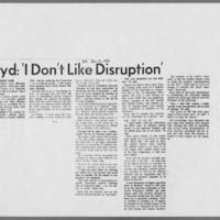 "1970-01-17 Daily Iowan Article: """"Boyd: 'I Don't Like Disruption'"""""