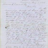 C.J. Buckley letter  to Thomas C. Durant, Newport, Rhode Island, August 8, 1855