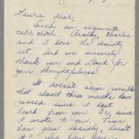 1943-04-05 Bessie Rector to Laura Frances Davis Page 1