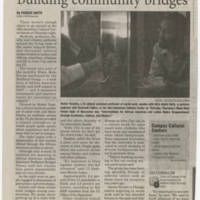"2009-11-16 Daily Iowan Article: ""Building Community Bridges"""