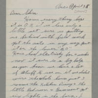 1944-04-25 George Davis to Lloyd Davis Page 1