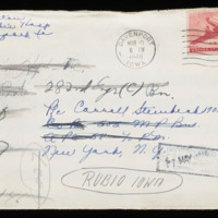 1946-03-08 Evelyn Burton to Carroll Steinbeck - Envelope