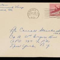 1945-11-02 Evelyn Burton to Carroll Steinbeck - Envelope