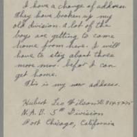 1945-11-29 Hubert Leo Wilson to Dave Elder