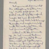 1942-09-10 Laura Davis to Lloyd Davis Page 1