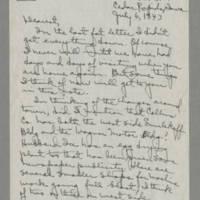 1943-07-06 Laura Davis to Lloyd Davis Page 1