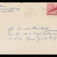 1945-10-19 Evelyn Burton to Carroll Steinbeck - Envelope