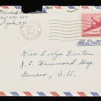 1945-09-11 Carroll Steinbeck to Evelyn Burton - Envelope
