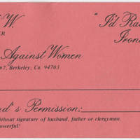 Ladies Against Women Membership Card