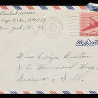 1945-10-17 Carroll Steinbeck to Evelyn Burton - Envelope