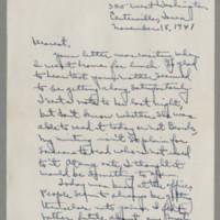 1941-11-18 Laura Davis to Lloyd Davis Page 1