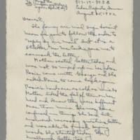 1942-08-25 Laura Davis to Lloyd Davis Page 1
