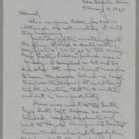 1943-02-17 Laura Davis to Lloyd Davis Page 1