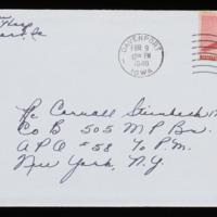 1946-02-07 Evelyn Burton to Carroll Steinbeck - Envelope