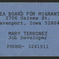 Mary Terronez Business Card