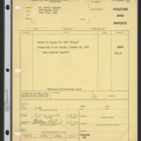 "1971-10-29 Invoice: Rental of tuxedo for CNPA """"Midway"""""