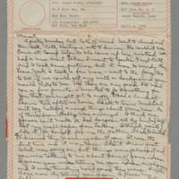 1943-04-04 Laura Davis to Lloyd Davis Page 1